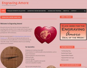 Engraving Amore's New Site
