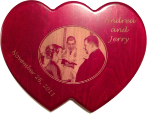 Andee and Jerry's Double Heart Plaque