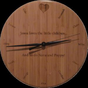 Nana's Personalized Clock
