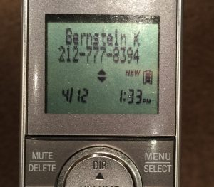 "The Caller ID number of my ""Microsoft Help Desk Hacker""."