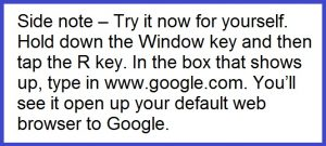 Windows Key Side Note