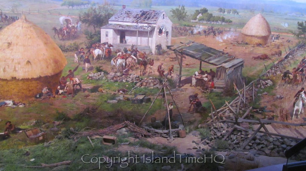 An image of the Gettysburg Cyclorama in the Gettysburg National Military Park