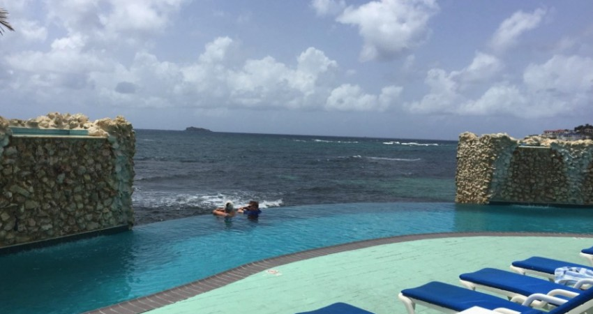 The Pool View Goes Off To Infinity At Oyster Bay Beach Resort